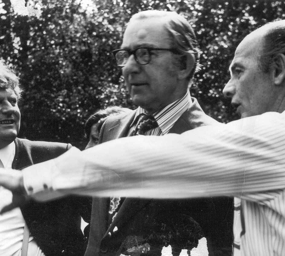 Der Tanzpapst Alex Moore mit Bill Irvine und Helmut Schäfer in Enzklösterle
