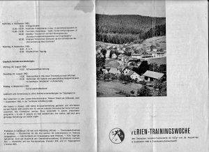 Das 1. Trainingslager 1963